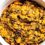 Egusi Soup is a popular Nigerian soup which is very easy to make and healthy with only 4g carbs.