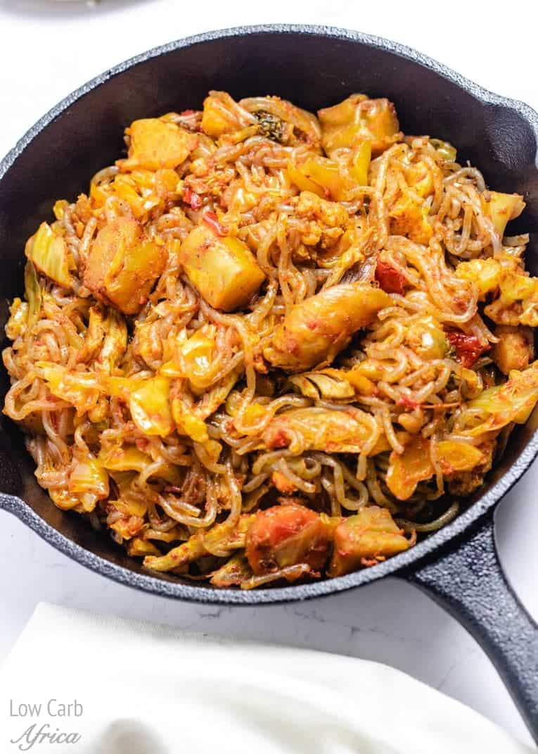 low carb, shirataki noodles stir fry