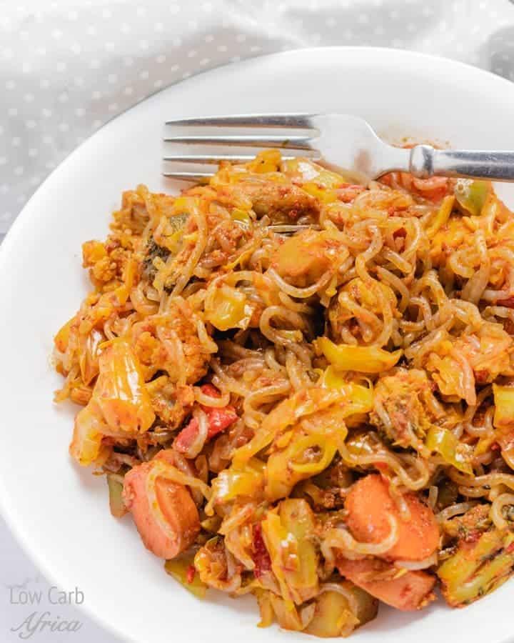 Low Carb, Spicy Noodle Stir Fry