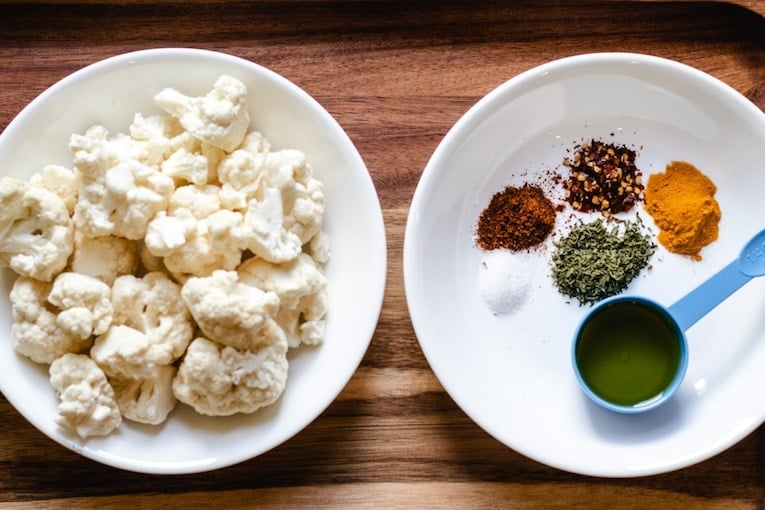 image of cauliflower and spices