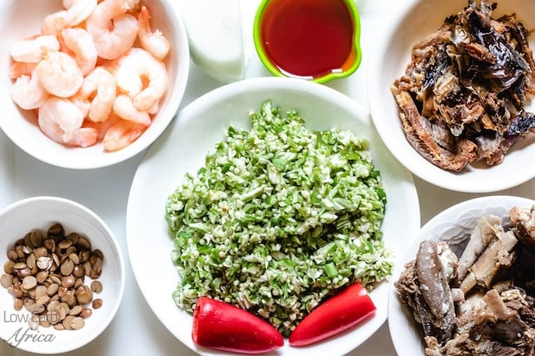 Image result for ingredients for seafood okro