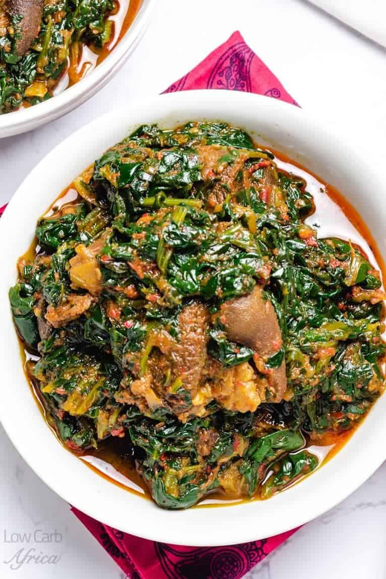 Delicious efo riro - nigerian spinach stew