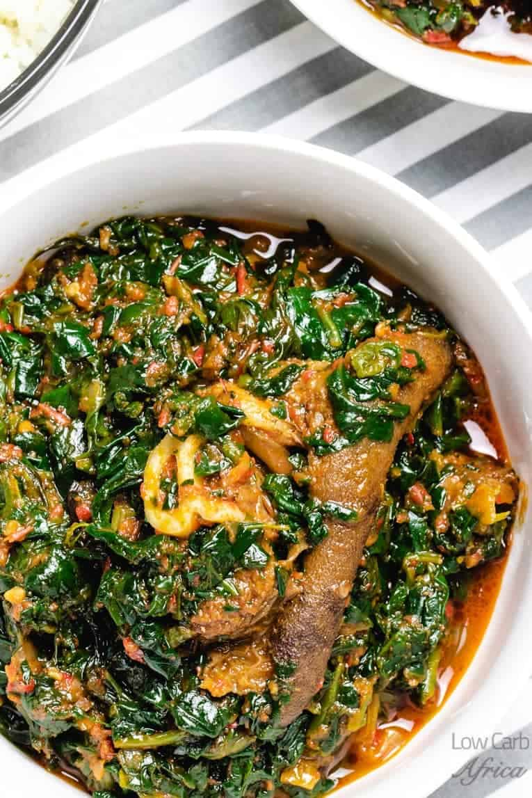 Spinach stew is popular in west African countries