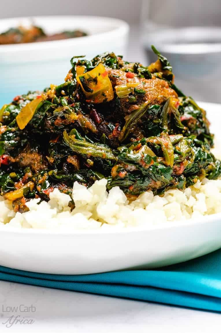 Nigerian Spinach stew is a savory and delicious low carb spinach stew
