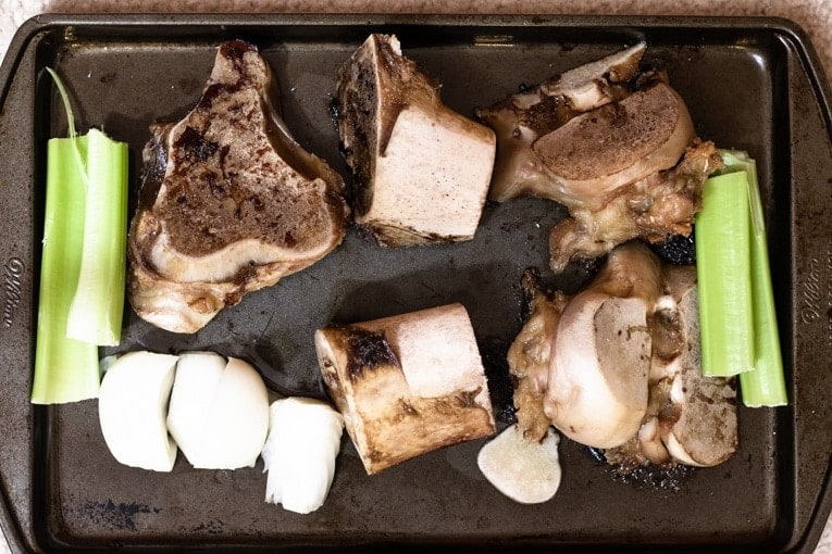 roast the beef bones for a delightful flavor for your bone broth