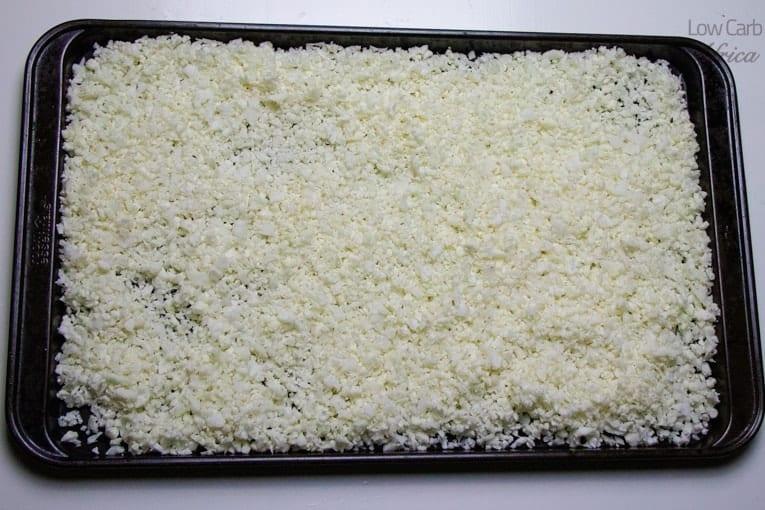 how to store cauliflower rice