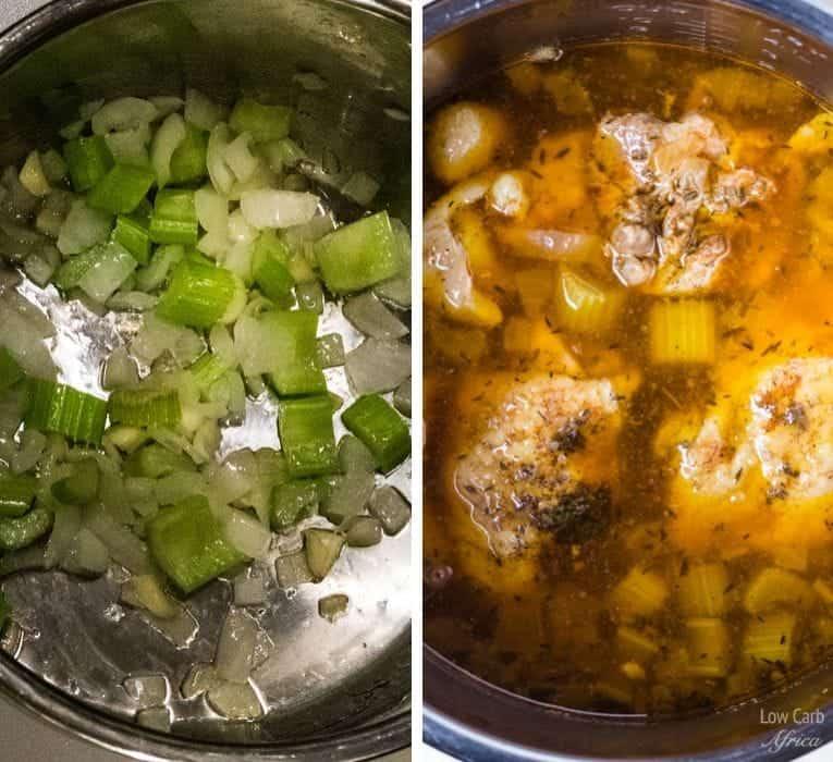 Shirataki Chicken Noodle Soup prep 2