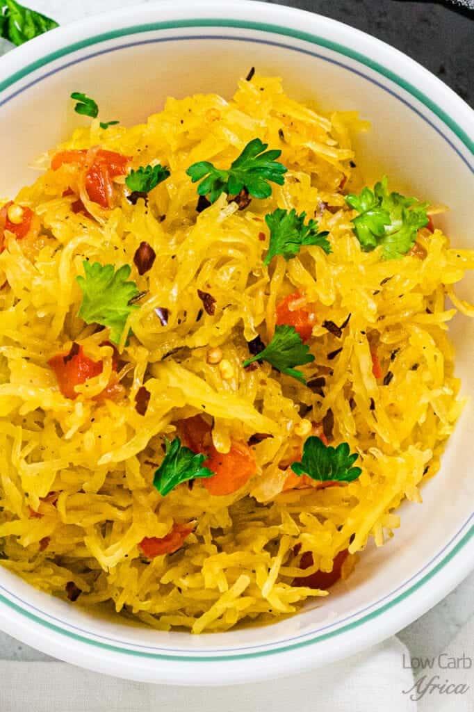 spaghetti squash closeup image