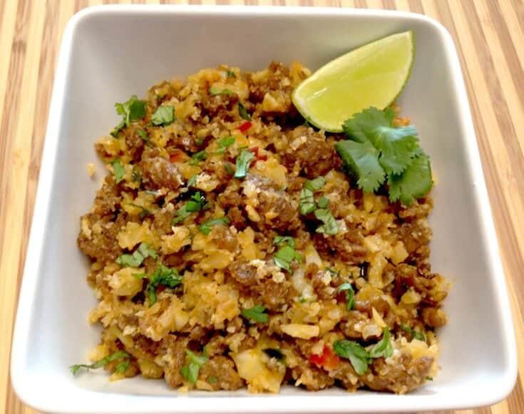 Chorizo & Pepper Cauliflower Rice