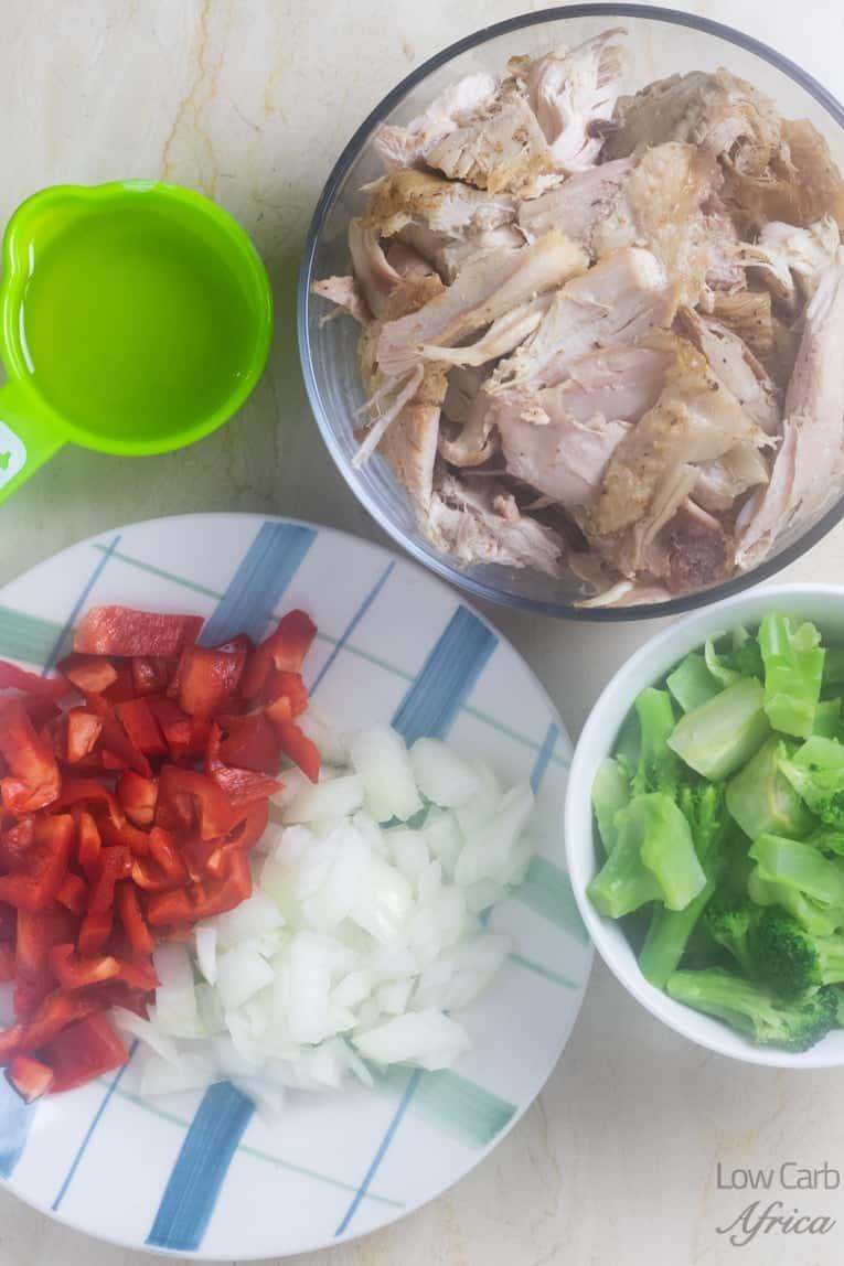 Leftover Turkey Stir Fry ingredients