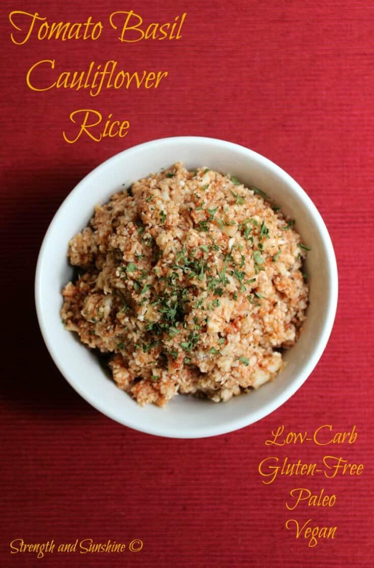 Tomato Basil Cauliflower Rice