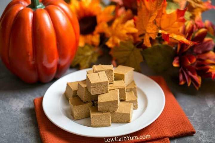 Easy Pumpkin Fudge Recipe - Sugar Free and Paleo