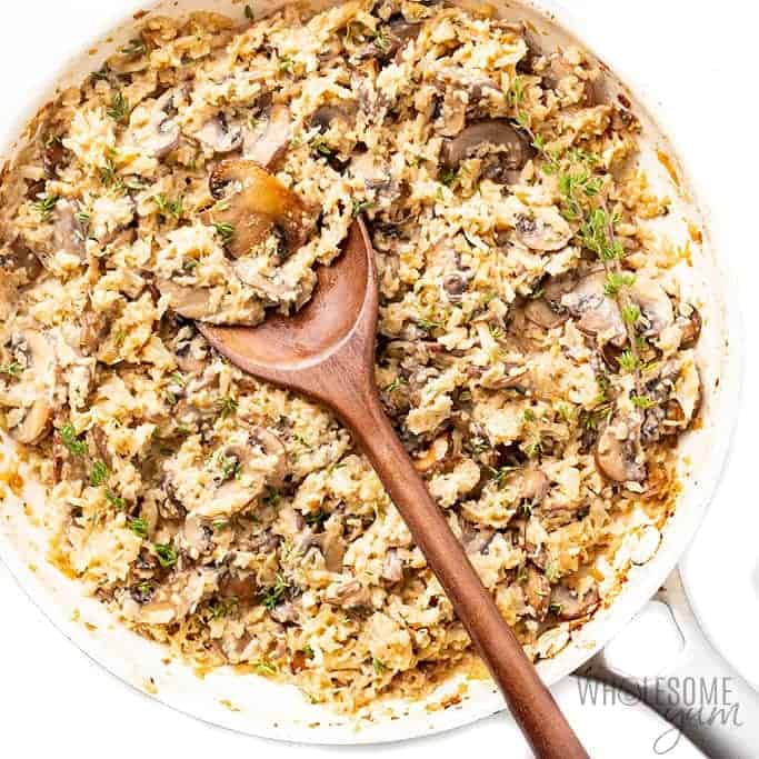Creamy Keto Mushroom Cauliflower Risotto Recipe