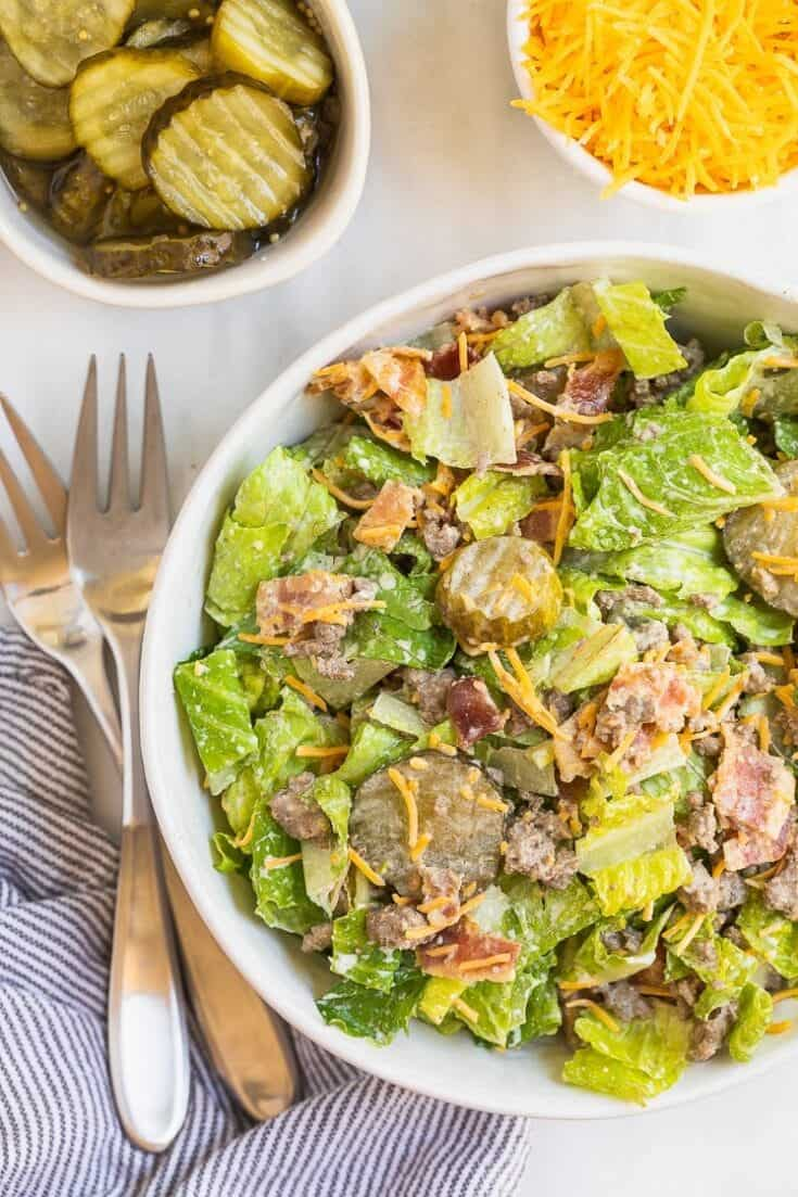 Keto Bacon Cheeseburger Salad