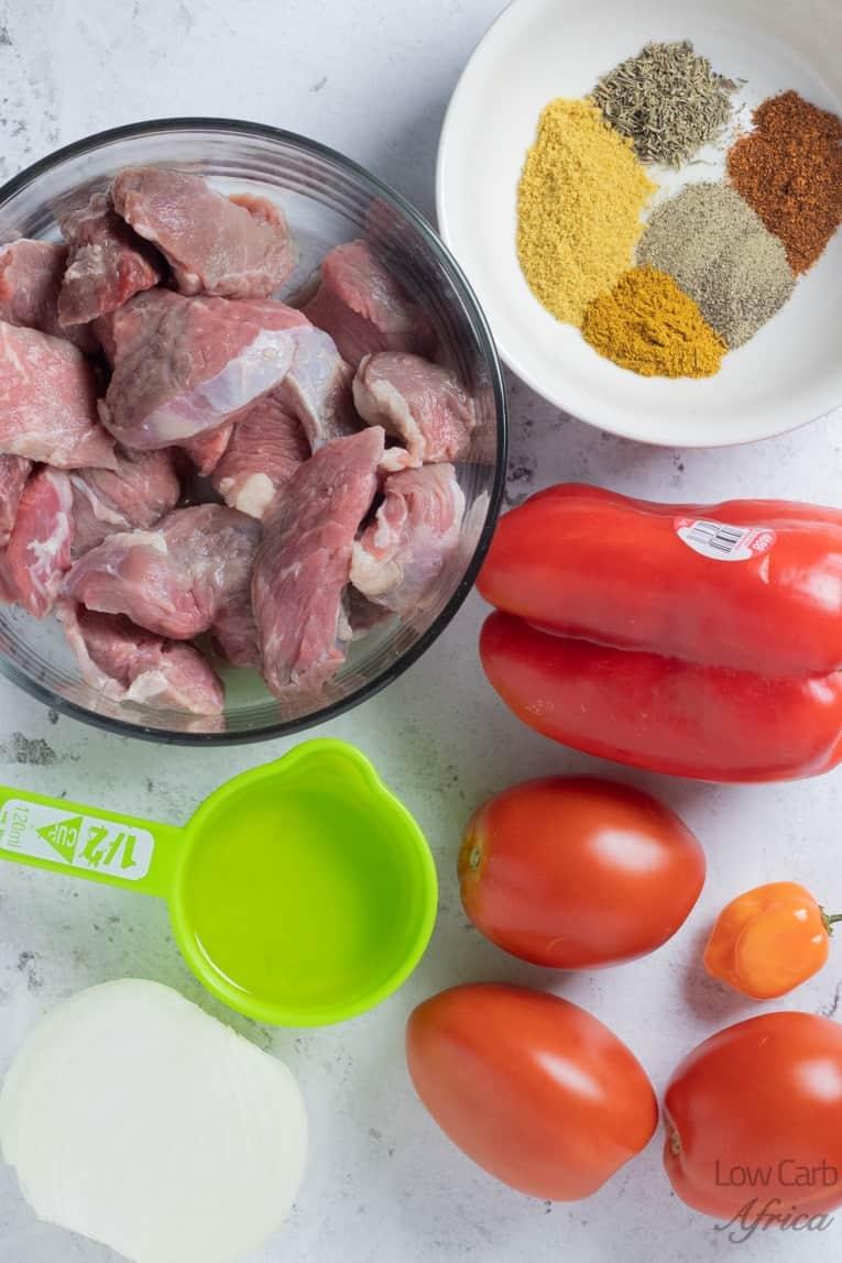 ingredients used to make nigerian beef stew