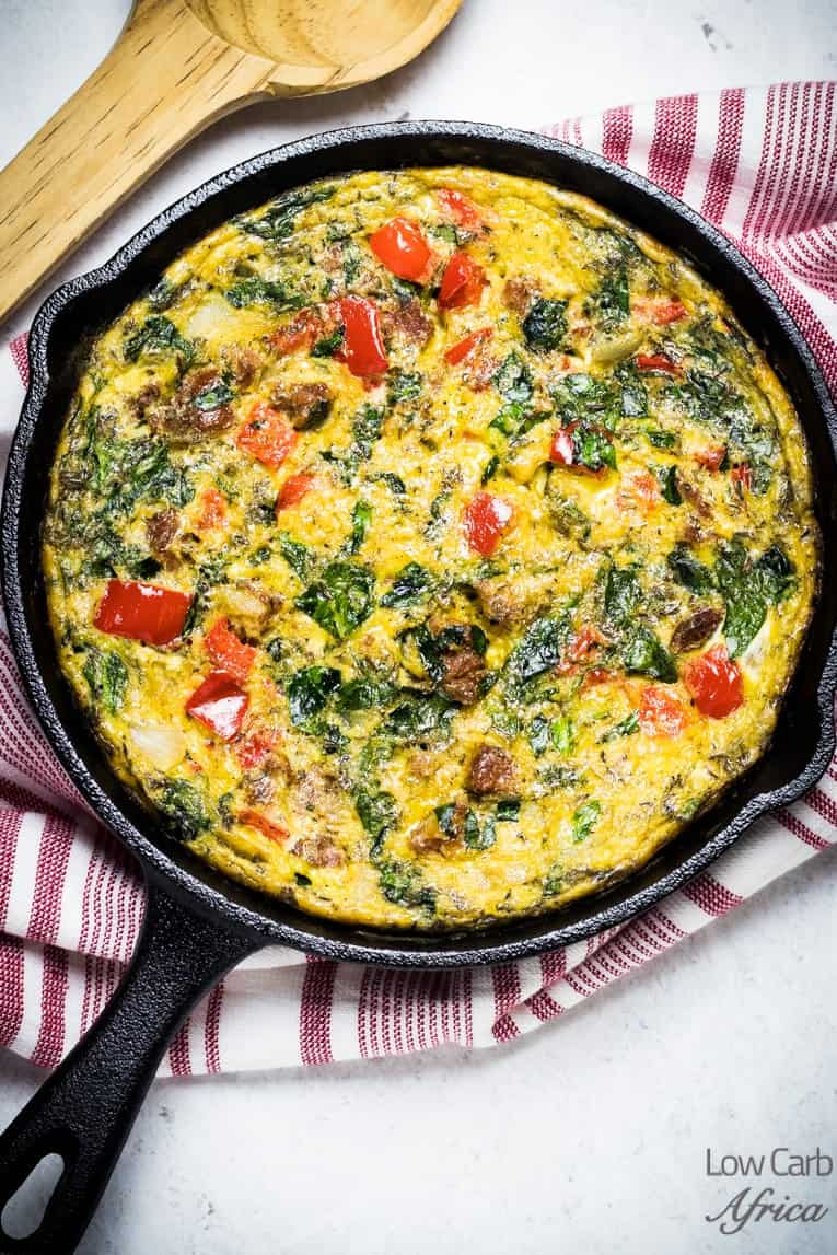 main hero image of Sausage and Spinach Frittata
