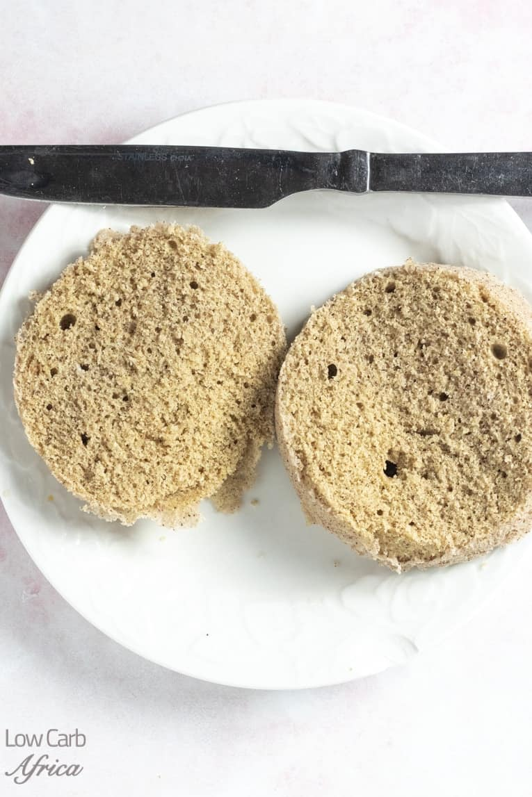 cinnamon keto bread sliced open